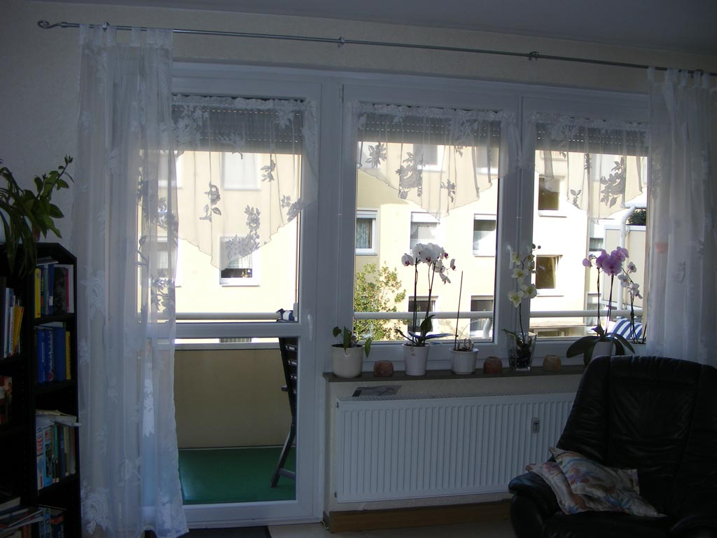gardinen set wohnzimmer balkont r und fenster. Black Bedroom Furniture Sets. Home Design Ideas
